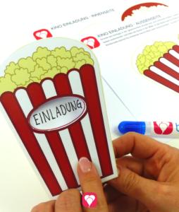 Deine fertige Kino Einladung