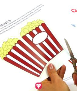Kino Einladung Schritt 1 - ausschneiden
