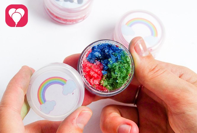 DIY Lip Scrub - Regenbogen Farben