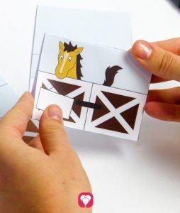 Pferde Tischkarten und Strohhalm Deko - Tischkarten falten