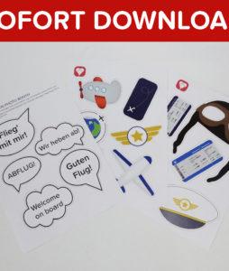 Flieger Photo Booth als Sofort-Download