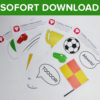 Fußball Photo Booth Set als Sofort-Download