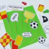 Fußball Photo Booth mit lustigen Accessoires