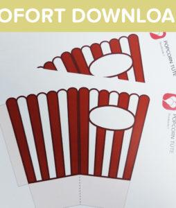 Popcorn Tüten als Sofort-Download