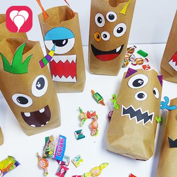 Monster Geschenktüten als kreatives Give Away