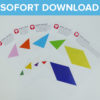 Bunte Party Girlande als Sofort-Download