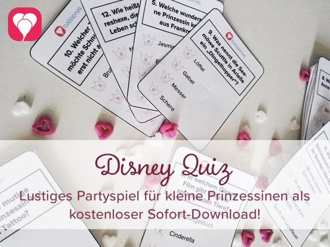 Spiele Ideen - Disney Quiz