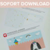 Einhorn Klappkarte als Sofort-Download