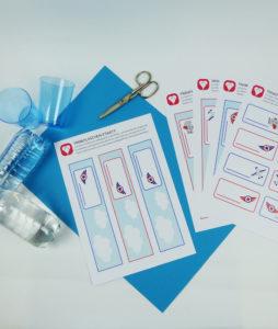 Flugzeug Flaschenetiketten und Becherschilder - Zusatzmaterial