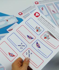 Flugzeug Becherschilder - Schritt 1