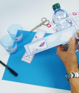 Flugzeug Flaschenetiketten - Schritt 4