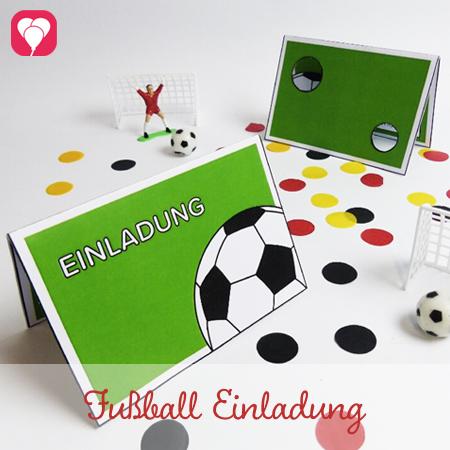 Fußball Einladung