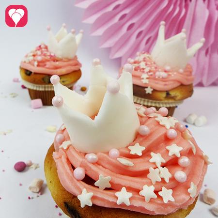 Prinzessinnen Cupcakes selbst backen