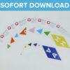 Happy Birthday Girlande als Sofort-Download
