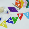 Happy Birthday Girlande selber basteln
