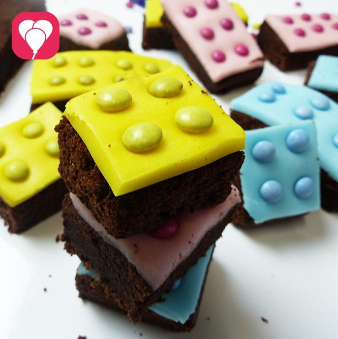 Lego Brownies als Geburtstagskuchen