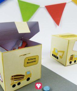 Bauarbeiter Geschenkbox für Deine Part Baustelle