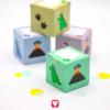 Dino Geschenkbox in verschiedenen Farben