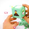 Deine fertige Dino Geschenkbox in grün