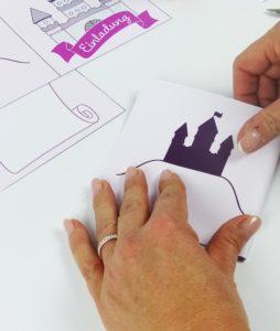 Märchenschloss Einladung - Schritt 4