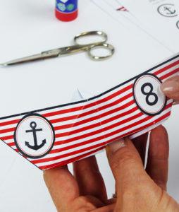 Piratenschiff Einladung - Schritt 4