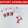Piraten Geschenkbox als Sofort-Download