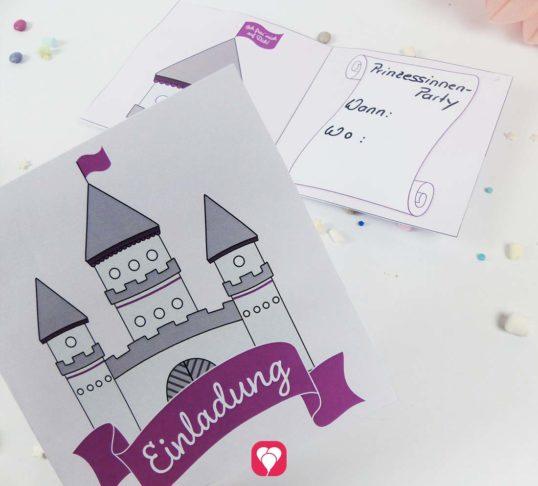Prinzessinnen Geburtstag Einladungskarte