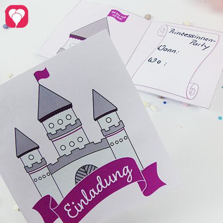 Märchenschloss Einladungskarte für Prinzessinnen