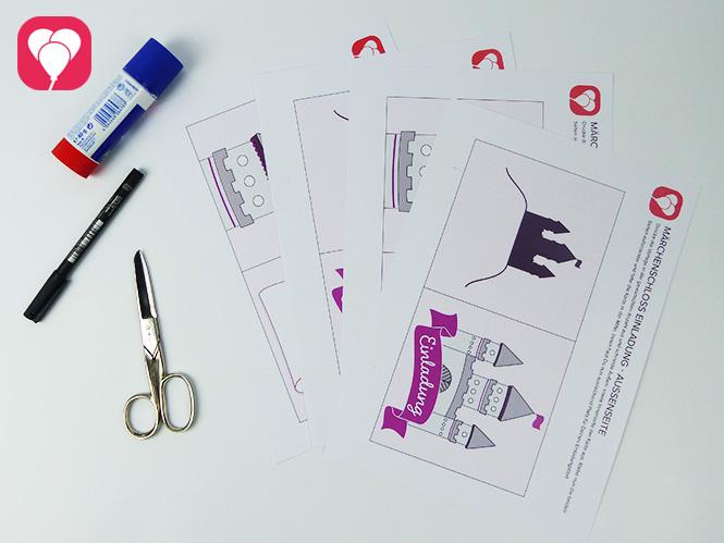 Märchenschloss Einladungskarte - Zusatzmaterial