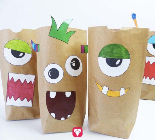 Vorlage Monster Geschenktüten