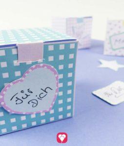 Muster Geschenkboxen als süßes Mitgebsel oder Geschenkverpackung