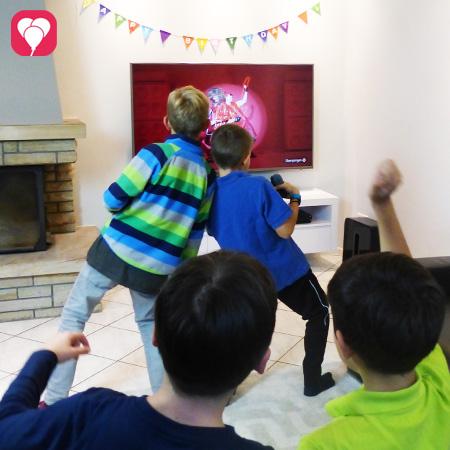 Nintendo Switch beim Kindergeburtstag