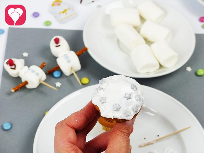 Olaf Muffins verzieren