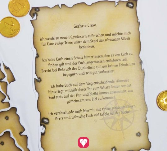 Spielvorlage Piraten Schatzsuche