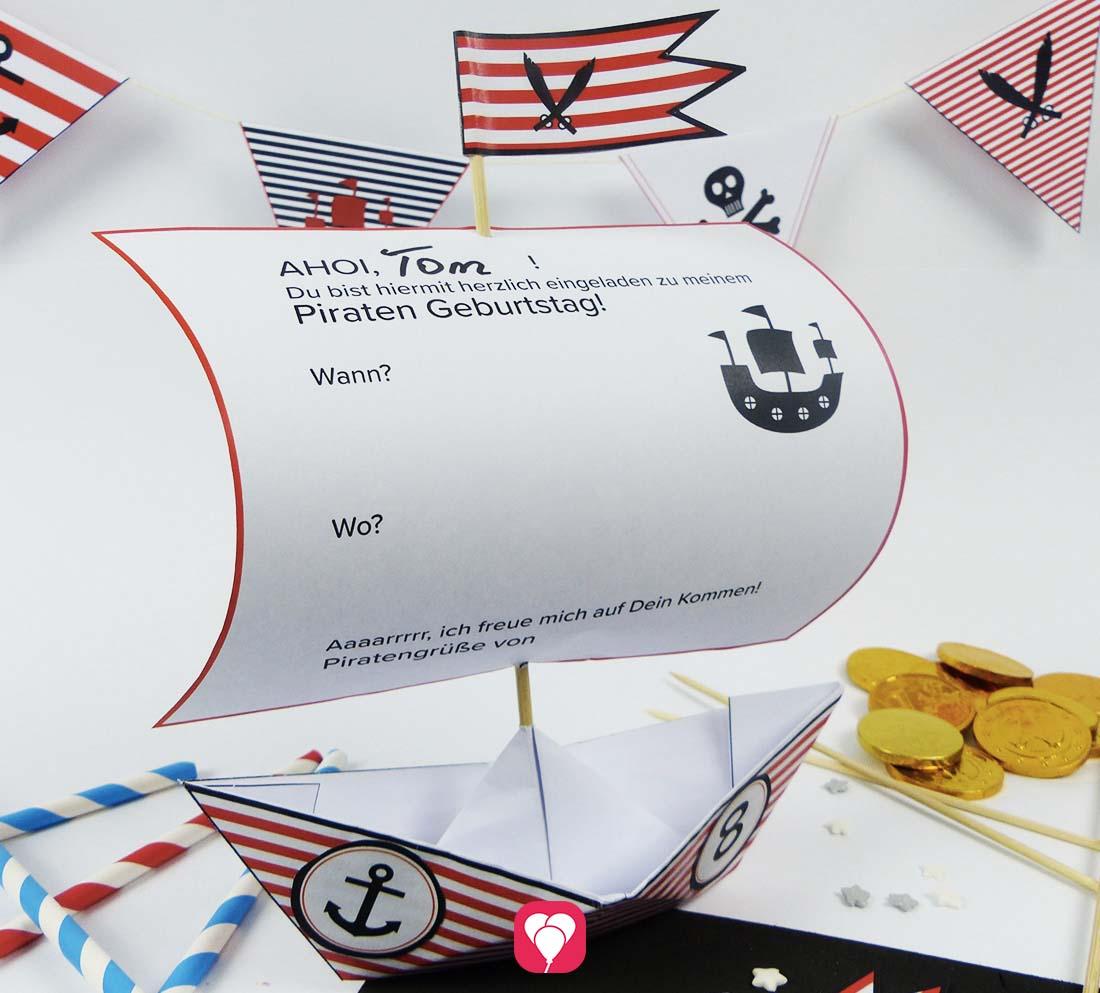 Piratenschiff Einladung