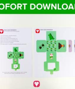 Dino Geschenkbox zum Download - balloonas