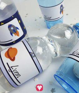 Weltraum Flaschenetiketten und Becherschilder
