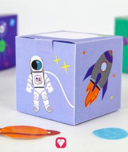 Weltraum Geschenkbox - balloonas