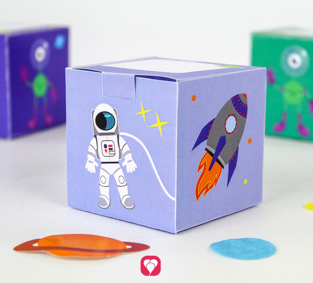 Weltraum Geschenkbox