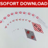 Piraten Wimpelkette als Sofort-Download