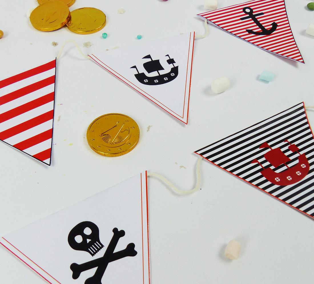 Piraten Wimpelkette als perfekte Party-Deko