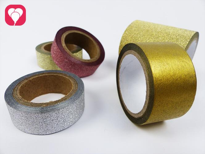 DIY Krone basteln mit Glitzer Washi Tape