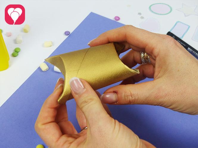 Einfache Geschenkverpackungen aus Klopapierrollen basteln