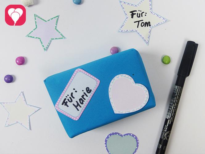 Lieblings-Sticker zum Beschriften Deiner Geschenke