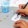 Lieblings-Sticker als Becherschilder