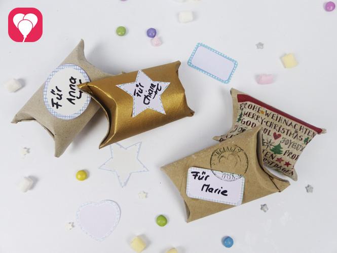 Upcycling Idee - kleine Geschenke einfach und hübsch verpacken