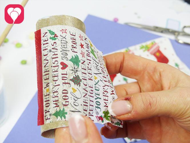 Upcycling Weihnachtsidee als Geschenkverpackung