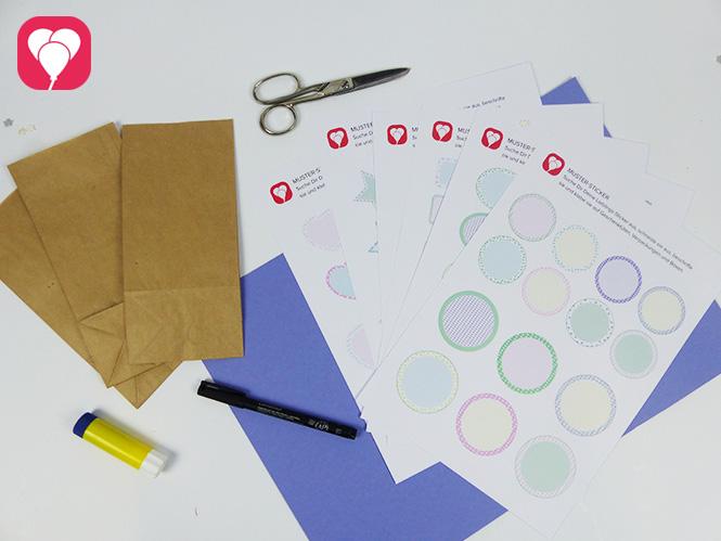 Zusatzmaterial für Deine Lieblings-Sticker als bunte Etiketten oder Deko-Picker