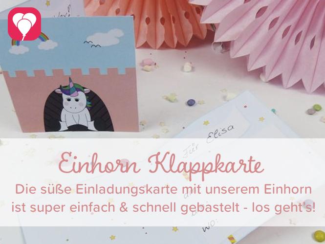 Einhorn Klappkarte