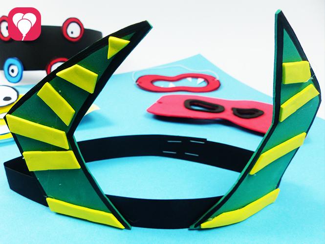 Hörner Maske basteln